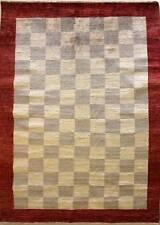 Rugstc 5.5x8 Senneh Gabbeh Multicolor Alfombra, Vegetal Tinte, Anudado a Mano,
