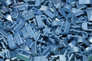 50 K'NEX Metallic Blue Clips Single Position End Connector Parts/Pieces KNEX
