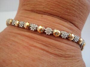 TOP Armband 750 Gold 189 Brillanten insg. ca. 1,10 ct Bracciale Oro 18K 17,7 g.