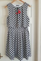 BNWT SOUTH/VERY Houndstooth black&white Dress Celebs Fav.Wedding Party uk12
