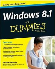 WINDOWS 8.1 FOR DUMMIES - ANDY RATHBONE (PAPERBACK) BRAND NEW