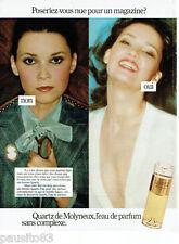 PUBLICITE ADVERTISING 115  1978  MOLYNEUX   eau de parfum QUARTZ