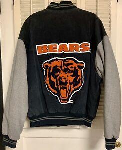 Vintage GIII Carl Banks Chicago Bears NFL Football Leather Jacket sz XL