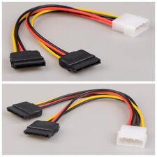 Molex 2 Sur 15 Pin IDE HDD SATA Serial ATA Câble Adaptateur 4 Broches Disque NF