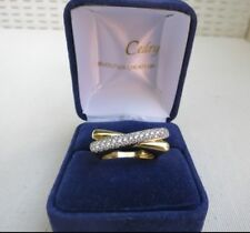 Bague Moderne 2 ors et diamants./ Ring yellow and white gold 18K and  diamonds.