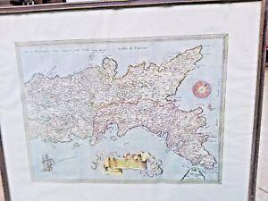 Mappa del Regno di Napoli - Campania - Calabria - RISTAMPA ARTIGIANALE