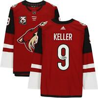 Clayton Keller Arizona Coyotes Signed Red Authentic Jersey & 25th Anniv Patch