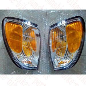 2x For Lexus LX470 98-07 Clear White Front Bumper Turn Signal Corner Lamp Nobulb