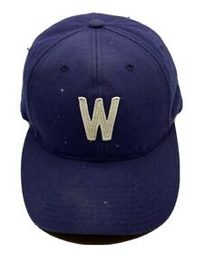 Washington Senators Baseball Hat Cap Fitted 7.25 Blue White W Men's MLB Vintage