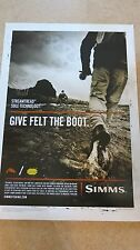 RARE Simms Give Felt the Boot Poster MINT!