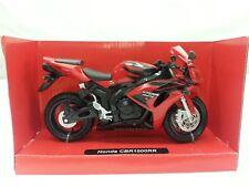 NEW-RAY MODELLINO MOTO HONDA CBR 1000RR SCALA 1:12,DIE CAST COLORE ROSSO