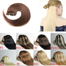 """15""""18""""20""""22""""Clip in Remy Real Human Hair Extensions Straight Any Color&Length"""