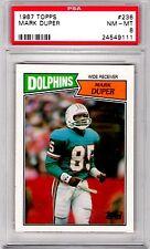 1987 Topps #236 Mark Duper PSA 8 Dolphins