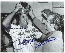 Bill Melton Roland Hemond 1974  Signed White Sox  Comiskey Park   B+W 8x10 10