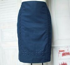 Blauer Boden Bleistift Business Rock Pencil Skirt  Dunkelblau UK 10 R S M 36 38