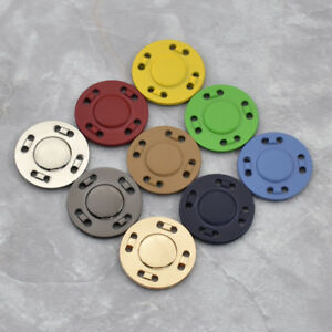 Metall Magnetische Nähen Zubehör DIY Kleidung Tasche Knöpfe Bastelknöpfe 1Set