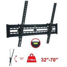 TV Wall Mount Bracket 15° Tilt Swivel For 32 37 40 42 46 50 55 60 65 70 inch