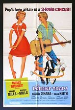 THE PARENT TRAP * CineMasterpieces ORIGINAL TWINS MOVIE POSTER 1968 RR DISNEY
