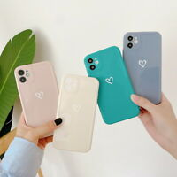 Shockproof Love Heart IMD Soft Case Cover For iPhone 12 11 Pro Max XS XR 7 8 SE2