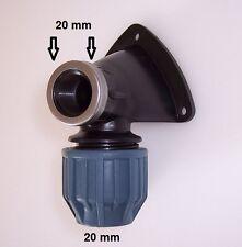 """PE-Wandscheibe ideal z.Verbinden von PE-Rohr mit Wasserhahn 20mm x 1/2"""" #226 WS"""