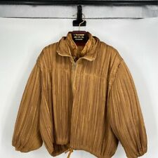 ISSEY MIYAKE Runway Womens Quilted pufffer Jacket Gold Full Zip Up 2 in 1 XS