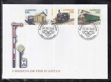 MÜ 1 ) Luxemburg Luxembourg FDC 2005 -  Historische Eisenbahnen