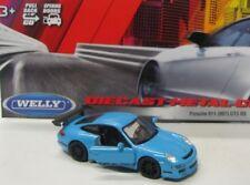 Porsche 911 GT3 RS ( 2007 ) blau / Welly Pull Back 1:34