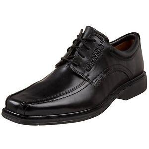 Clarks Men's 86093 Unstructured Un.Kenneth Black Leather Lace Up Dress Shoe