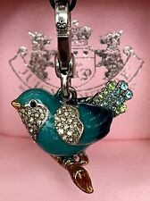 JUICY COUTURE Charm HTF PAVE BLUEBIRD - for Bracelet, Purse YJRU3871