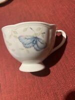 Rare Lenox Butterfly Meadow Coffee Tea Cup and Saucer Grasshopper Blue/Yellow