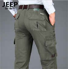 New Men's pants thick cotton Pocket Pants Outdoor business Straight casual Pants