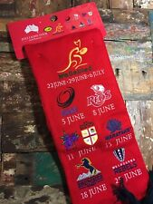 2013 LIONS Wallabies TOUR AUSTRALIA EMBROIDERED TOUR  SCARF Brand New With Tags