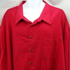 Men's Dress Shirt 22 Tall 38 39 Red Wrinkle Resistant Linea Uomo
