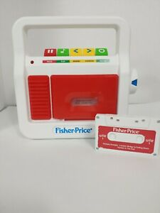 2017 Mattel Fisher Price Cassette Player Recorder with Cassette Childrens Toy