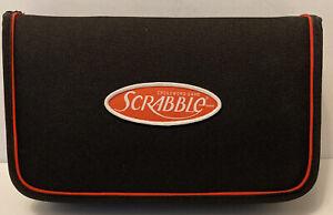 Travel Edition SCRABBLE Crossword Game Zip Folio Snap-In Tiles Complete