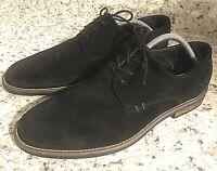 BRUNO Marc Men's Urban Suede Black Leather Lace Up Oxfords Shoes 11
