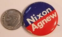 Nixon Agnew Pinback Button Political Richard Nixon President Vintage Red Blue