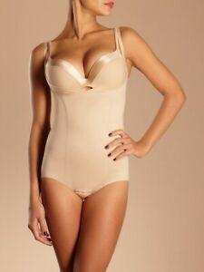 Chantelle Shapewear Nude Beige Open Bust Body Suit Underbust shaper XL X Large L