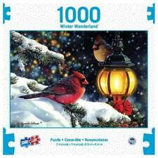 1000PC PUZZLE JIGSAW WINTER WONDERLAND THE GLOW OF WINTER LIGHT BY SURE LOX