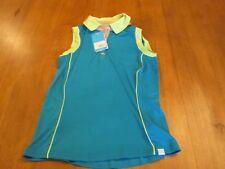 Womens GG Blue Golf Shirt, NWT, S