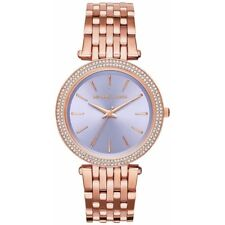 Michael Kors MK3400 Darci Rose Gold Tone Bracelet Purple Dial Women Casual Watch