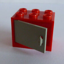 1 x LEGO® 4533/4532 Schrank,Kasten mit Tür/Klappe althellgrau,rot 2x3x2