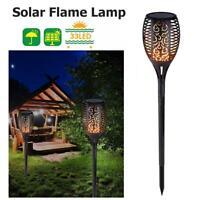 4Pack 33LED Flame Solar Torch Light Waterproof Flickering Dancing Garden Lantern
