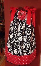 Baby Dreams Boutique Trunk Show Girls Sz.4-5 Shoulder Tie Dress With Rosette