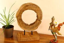 teca viejo roble Escultura EXPOSITOR, DISCO decoración madera Fina Flotante
