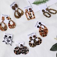 Jewelry Hollow Out Acrylic Drop Pendant Jewelry Leopard Print Earrings Ear Stud