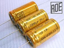"""2200uF -25V ROE axial EGC """"LL"""" DIN41257 105C  Series Audio Grade !! x 100 PIECES"""