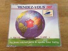 """JEAN MICHEL JARRE """"RENDEZ-VOUS"""" 1998 CD SINGLE RARE 3 REMIXES DREYFUS & EPIC ´98"""