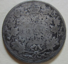 1883 Canada Silver Twenty-Five Cents Coin KEY DATE QUARTER (UJ5)