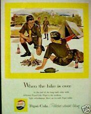 1958 Pepsi-Cola Soda-Pop Boy Scouts Memorabilia Camping Tent Promo Trade AD